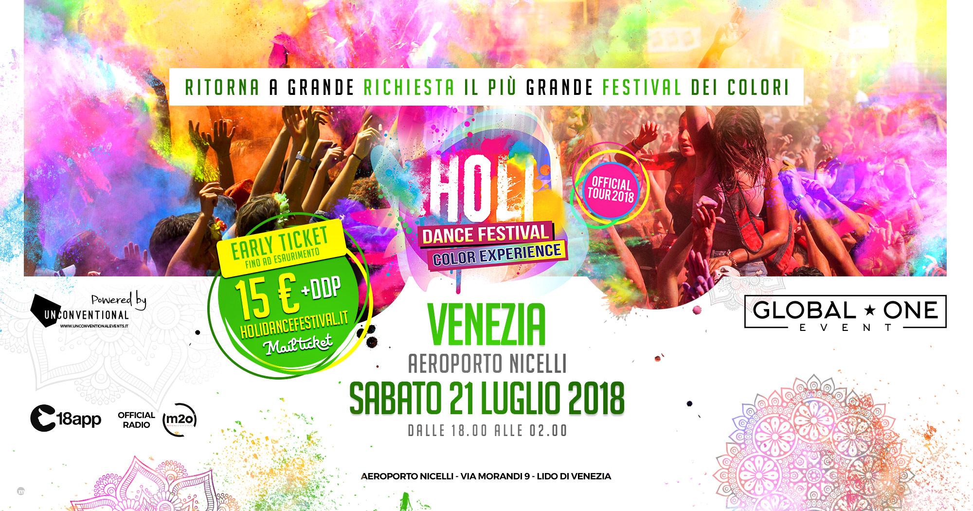 Holi 21 luglio Venezia